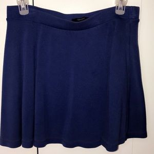 Forever 21 royal blue skater skirt L